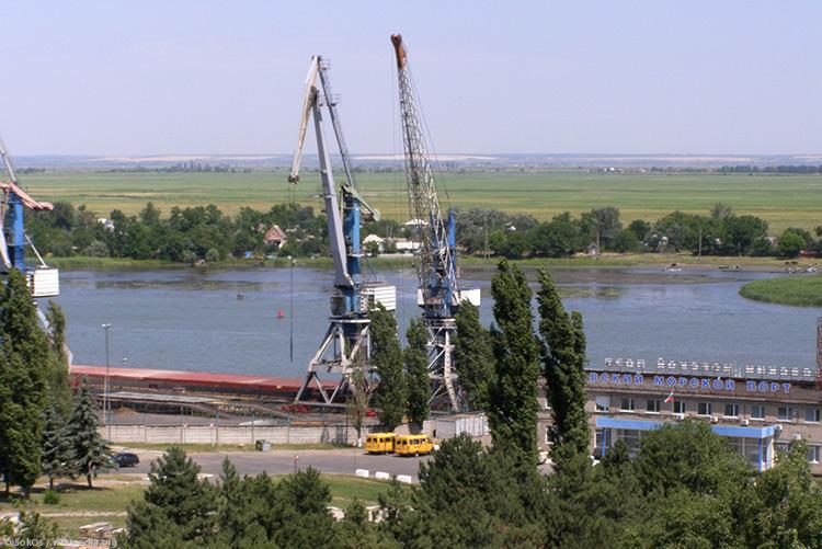 Морской порт Азов расширится засчет возведения нового терминала