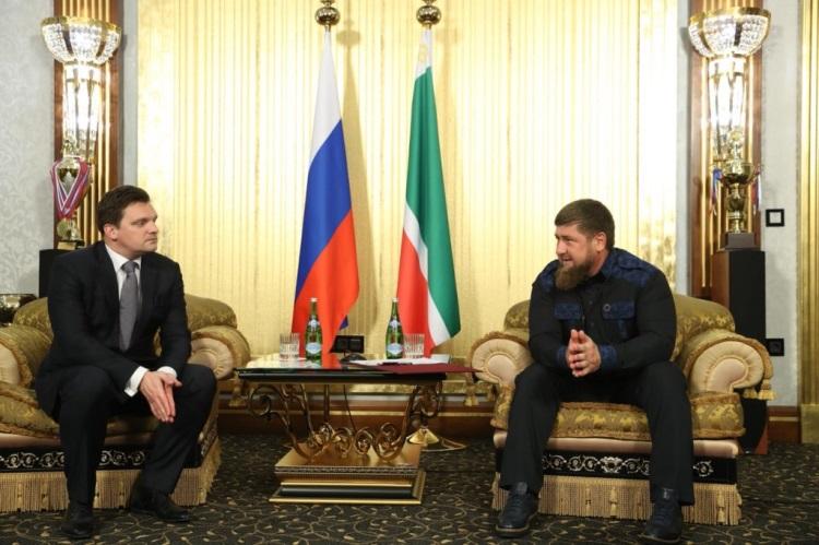 Рамзан Кадыров провел встречу сгендиректором «Почты России» Николаем Подгузовым